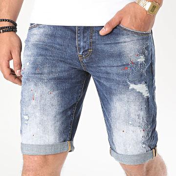 KZR - Short Jean TH37666 Bleu Denim