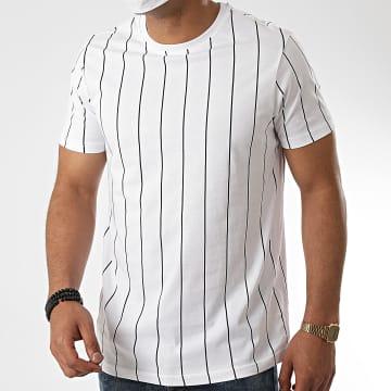 Brave Soul - Tee Shirt A Rayures 149 Stobart Blanc
