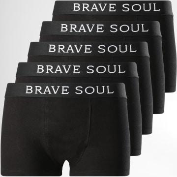 Brave Soul - Lot De 5 Boxers Alastar Noir