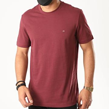 Calvin Klein - Tee Shirt Cotton Logo Embroidery 3076 Bordeaux