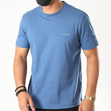 Calvin Klein - Tee Shirt Cotton Chest Logo 3307 Bleu