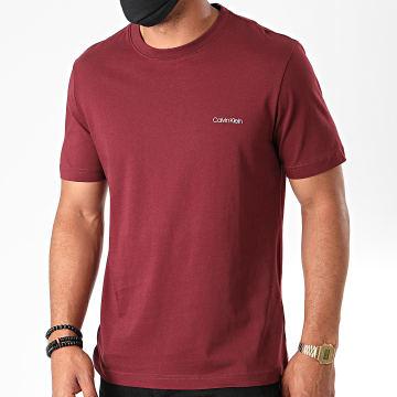 Calvin Klein - Tee Shirt Cotton Chest Logo 3307 Bordeaux