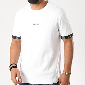 Calvin Klein - Tee Shirt Logo Cuff 5573 Blanc