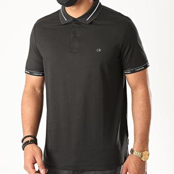 Calvin Klein - Polo Manches Courtes Liquid Touch Logo Cuff 5580 Noir