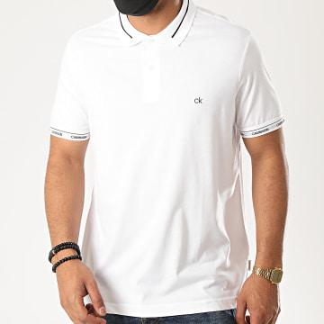 Calvin Klein - Polo Manches Courtes Liquid Touch Logo Cuff 5580 Blanc