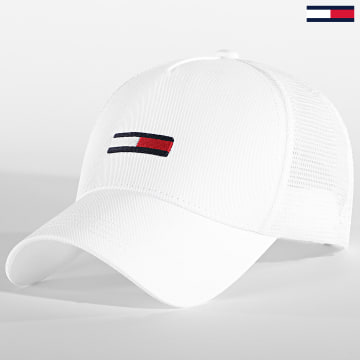 Tommy Hilfiger - Casquette Trucker Flag Cap 6270 Blanc