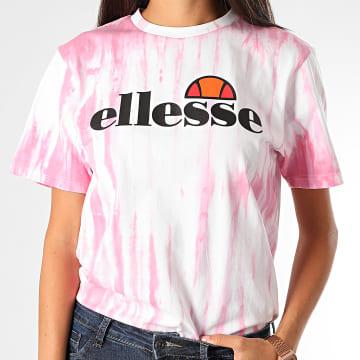 Ellesse - Tee Shirt Femme Shalentine SGF09271 Blanc Rose