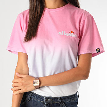 Ellesse - Tee Shirt Femme Labney Fade SGF09287 Rose Blanc Dégradé