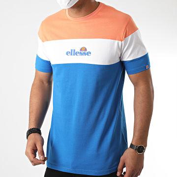 Ellesse - Tee Shirt Tricolore Ministry SHF09080 Bleu Orange Blanc