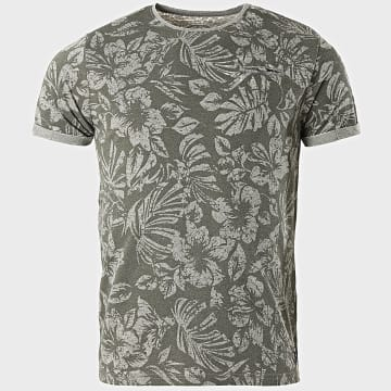 La Maison Blaggio - Tee Shirt Malte Vert Kaki Floral