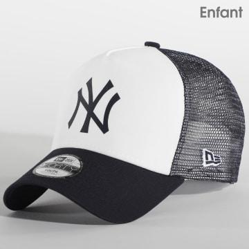 New Era - Casquette Trucker Enfant New York Yankees Team Colour Block 12380803 Blanc Noir