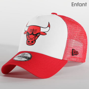 New Era - Casquette Trucker Enfant Chicago Bulls Team Colour Block 12380804 Rouge Blanc