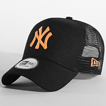 New Era - Casquette Trucker New York Yankees Diamond Era 12381187 Noir Orange