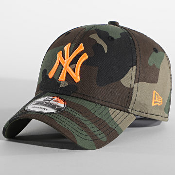 New Era - Casquette Camouflage 9Forty New York Yankees Essential 940 12381202 Vert Kaki