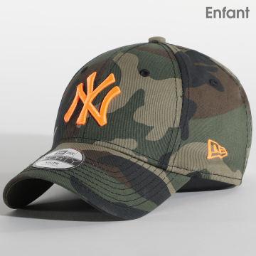 New Era - Casquette Enfant 9Forty New York Yankees Essential 940 12381205 Vert Kaki Marron Orange