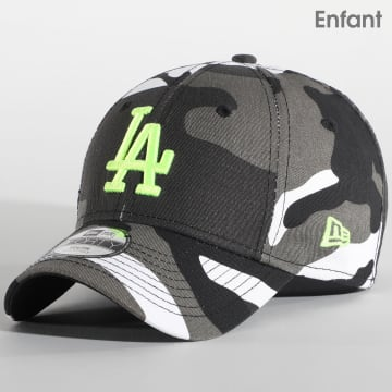 New Era - Casquette Enfant Camouflage 9Forty Los Angeles Dodgers Essential 12381207 Gris Blanc