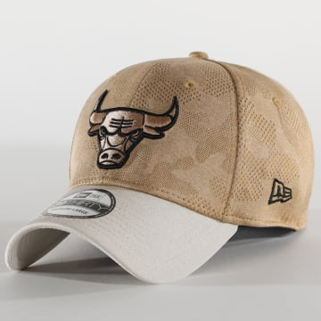 New Era - Casquette Fitted Engineered Plus 39Thirty Chicago Bulls Beige Ecru Camouflage