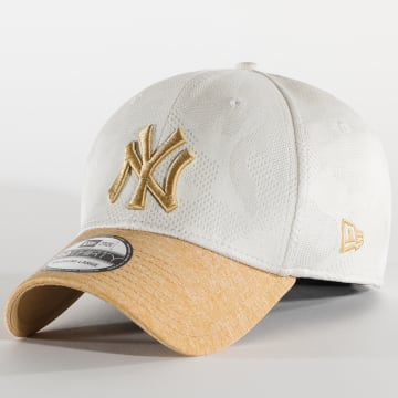 New Era - Casquette Fitted Engineered Plus 39Thirty New York Yankees 12381156 Ecru Beige Camouflage