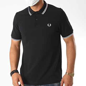 Fred Perry - Polo Manches Courtes Twin Tipped M3600 Bleu Marine