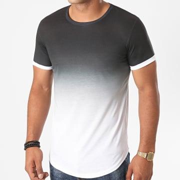 LBO - Tee Shirt Oversize Dégradé Avec Revers 1154 Noir Blanc