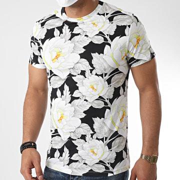 Aarhon - Tee Shirt Floral 92542 Noir Gris