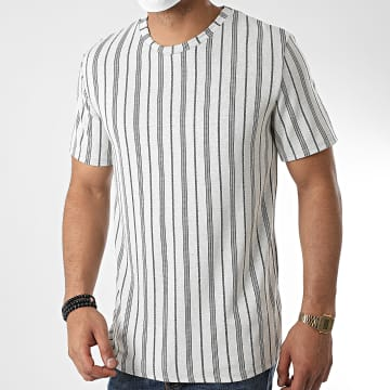 Aarhon - Tee Shirt A Rayures 19-009K Gris