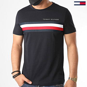 Tommy Hilfiger - Tee Shirt Global Stripe 4337 Bleu Marine