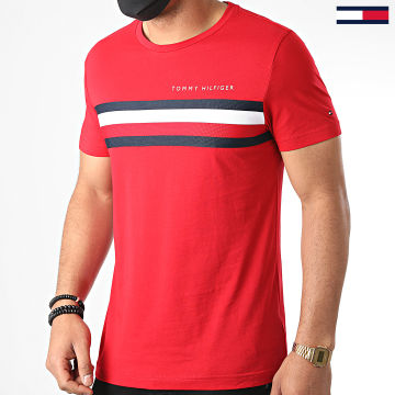 Tommy Hilfiger - Tee Shirt Global Stripe 4337 Rouge