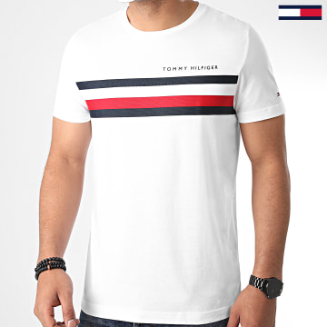 Tommy Hilfiger - Tee Shirt Global Stripe 4337 Blanc