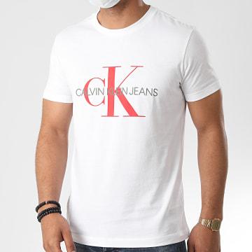 Calvin Klein - Tee Shirt Slim Monogram Logo 4551 Blanc