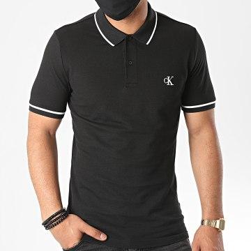 Calvin Klein - Polo Manches Courtes Slim Tipping 5603 Noir