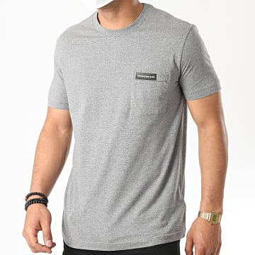 Calvin Klein - Tee Shirt Poche Institutional 5613 Gris Chiné