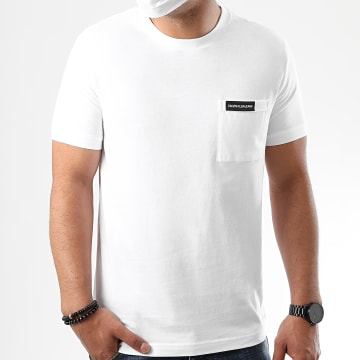 Calvin Klein - Tee Shirt Poche Institutional 5613 Blanc