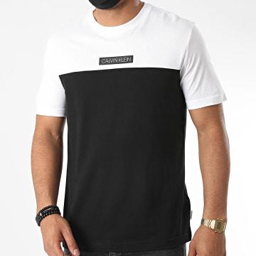 Calvin Klein - Tee Shirt Color Block 5572 Noir Blanc