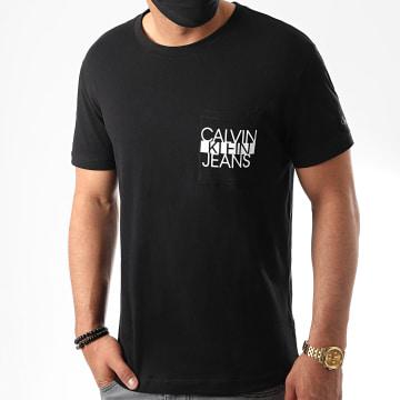 Calvin Klein - Tee Shirt Poche CKJ Colorblock 6047 Noir