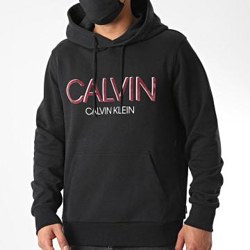 Calvin Klein - Sweat Capuche Calvin Shadow Logo 5584 Noir