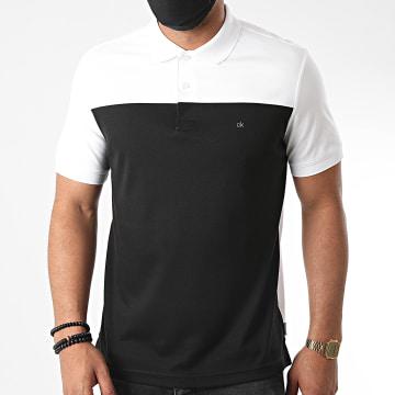 Calvin Klein - Polo Manches Courtes Color Block Interlock 5659 Noir Blanc