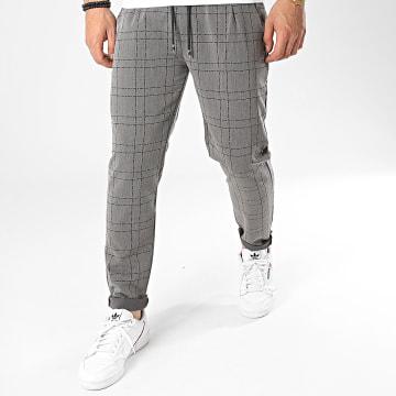 Frilivin - Pantalon A Carreaux 92483 Gris