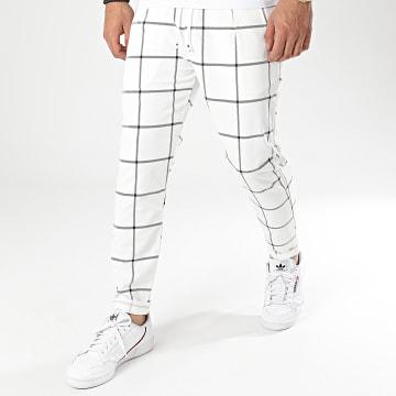 Frilivin - Pantalon A Carreaux 92482 Blanc
