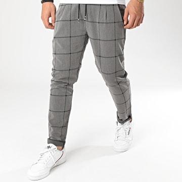Frilivin - Pantalon A Carreaux 92482 Gris