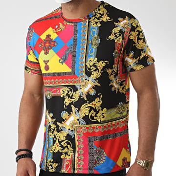 Frilivin - Tee Shirt 717522 Noir Renaissance Floral
