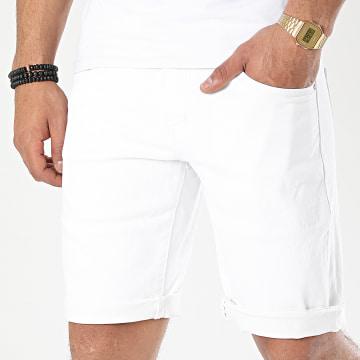 Frilivin - Short Jean Slim JD-209 Blanc