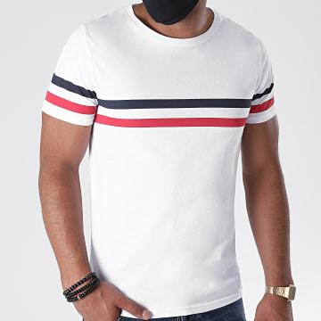 LBO - Tee Shirt Tricolore 1202 Blanc