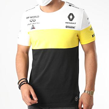 Le Coq Sportif - Tee Shirt Renault 2010952 Noir Blanc Jaune
