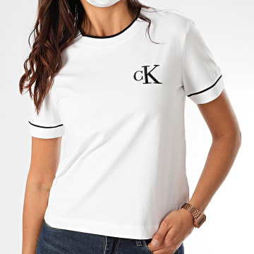 Calvin Klein - Tee Shirt CK Embroidery Tippin 4139 Blanc
