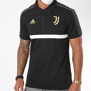 adidas - Polo Manches Courtes Juventus A Bandes FR4225 Noir
