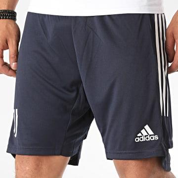 Adidas Performance - Short Jogging A Bandes Juventus FR4271 Bleu Marine