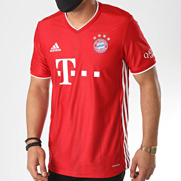 Adidas Performance - Tee Shirt A Bandes FC Bayern FR8358 Rouge