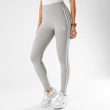 Adidas Originals - Legging Femme A Bandes FM2553 Gris Chiné