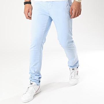 Paname Brothers - Pantalon Chino Costa Bleu Clair